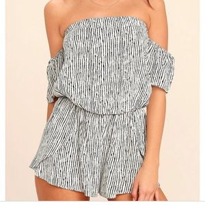 NWT lulus get together off the shoulder romper